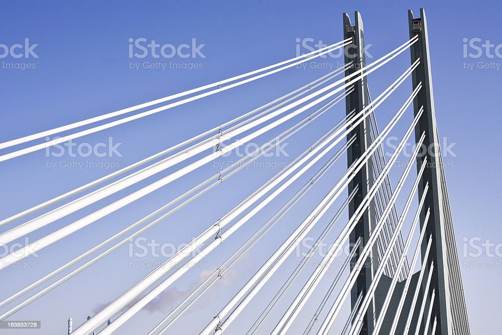 Suspension bridge, detail stock photo