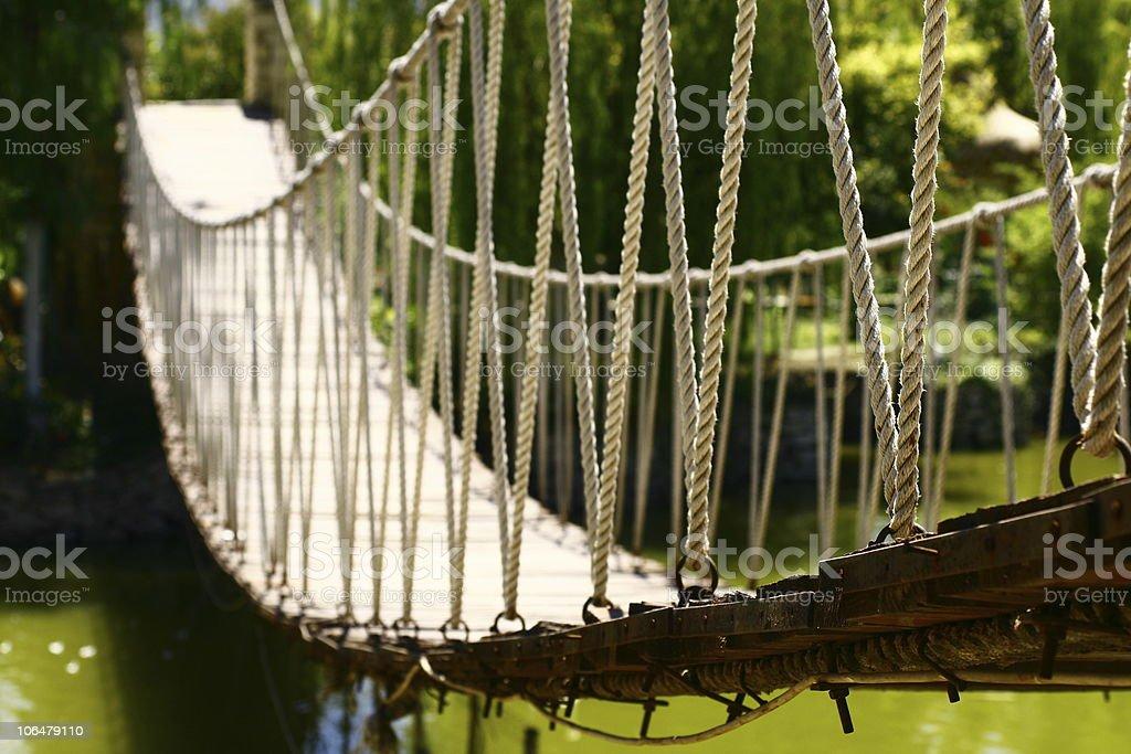 suspension bridge / drawbridge royalty-free stock photo