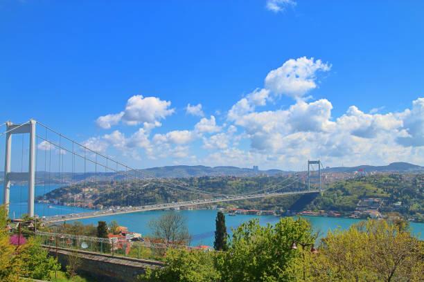Suspension bridge over the Bosphorus in Istanbul.