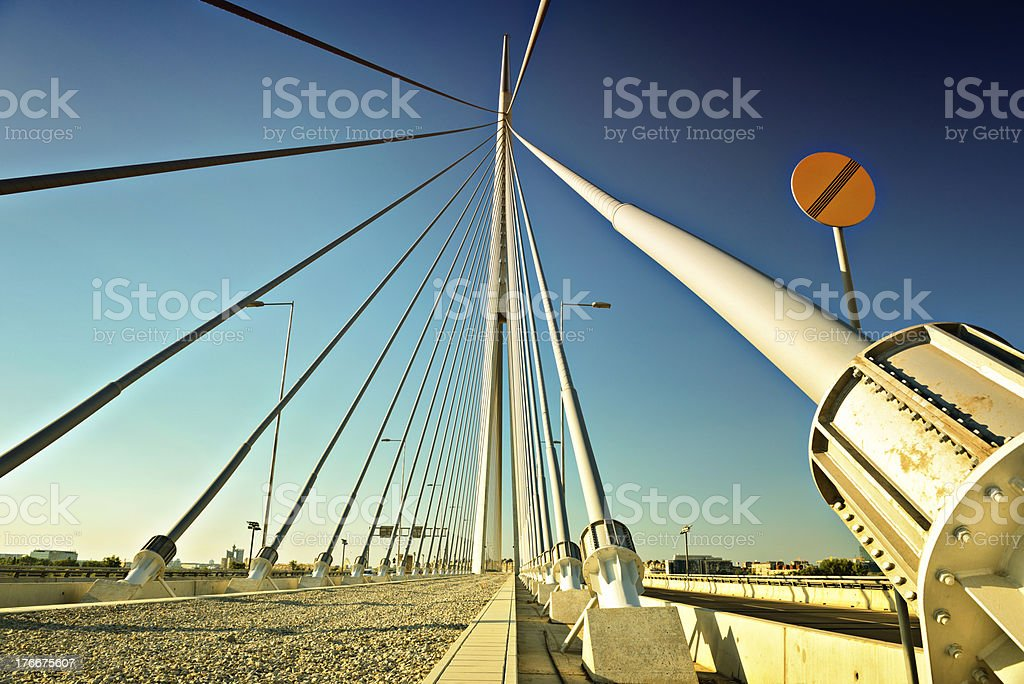 Suspension bridge royalty-free stock photo