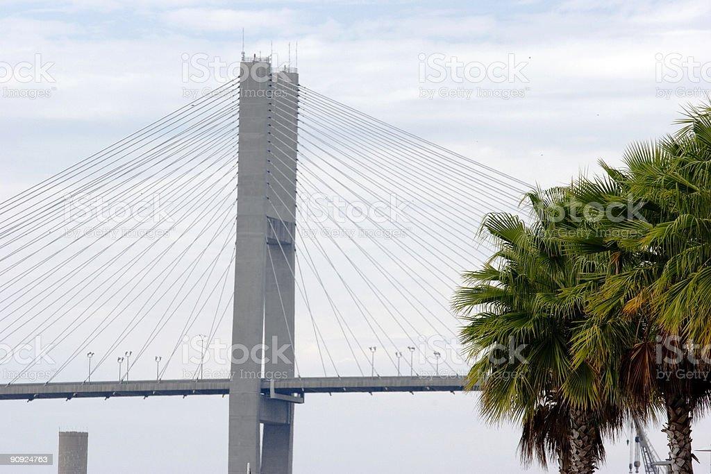 Suspension Bridge (Detail) stock photo