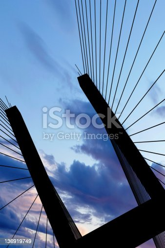 156725382 istock photo XXL suspension bridge silhouette 136919749