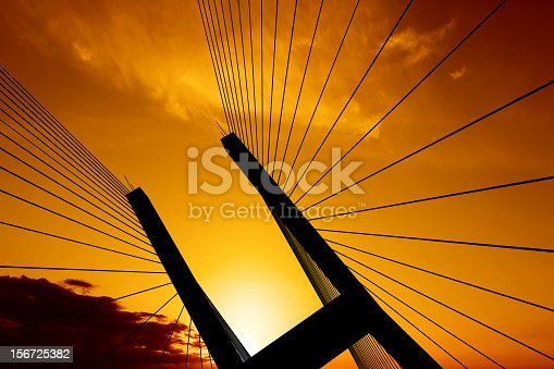 istock XXL suspension bridge silhouette 156725382