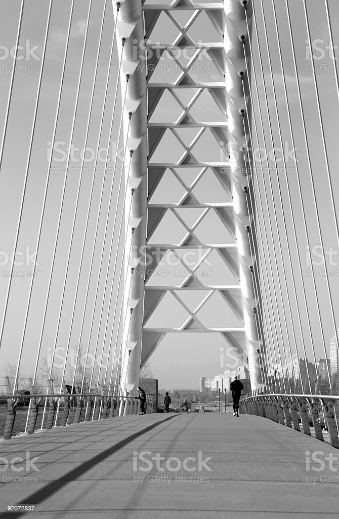 Suspension Bridge Support royalty-free stock photo