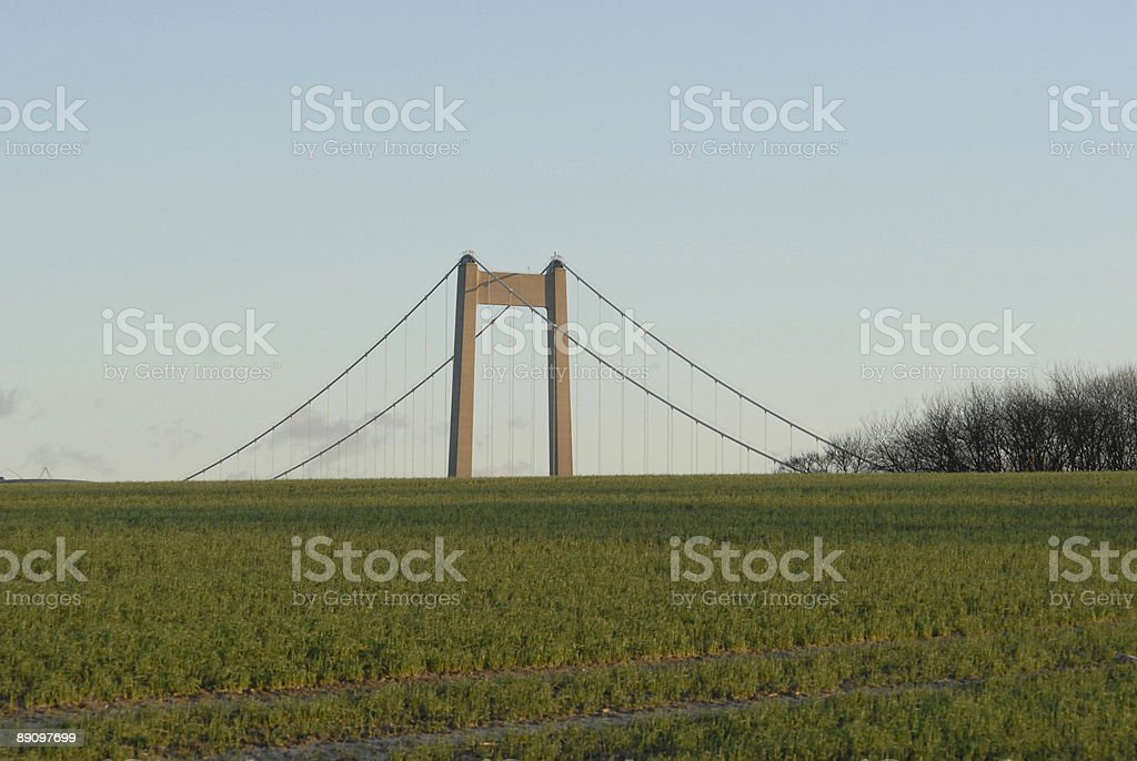 Suspension Bridge Top royalty-free stock photo