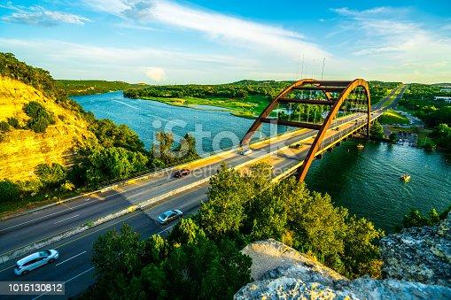 501329818istockphoto Suspension Bridge Transportation crossing the Colorado River in Austin , Texas 1015130812
