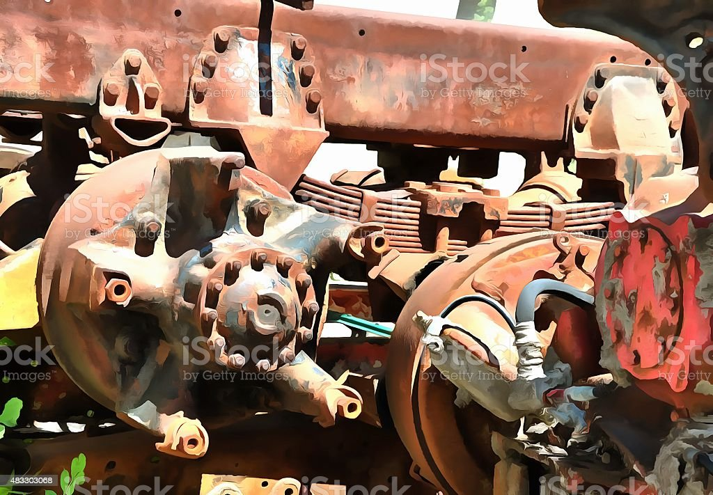 Suspension from the past stock photo