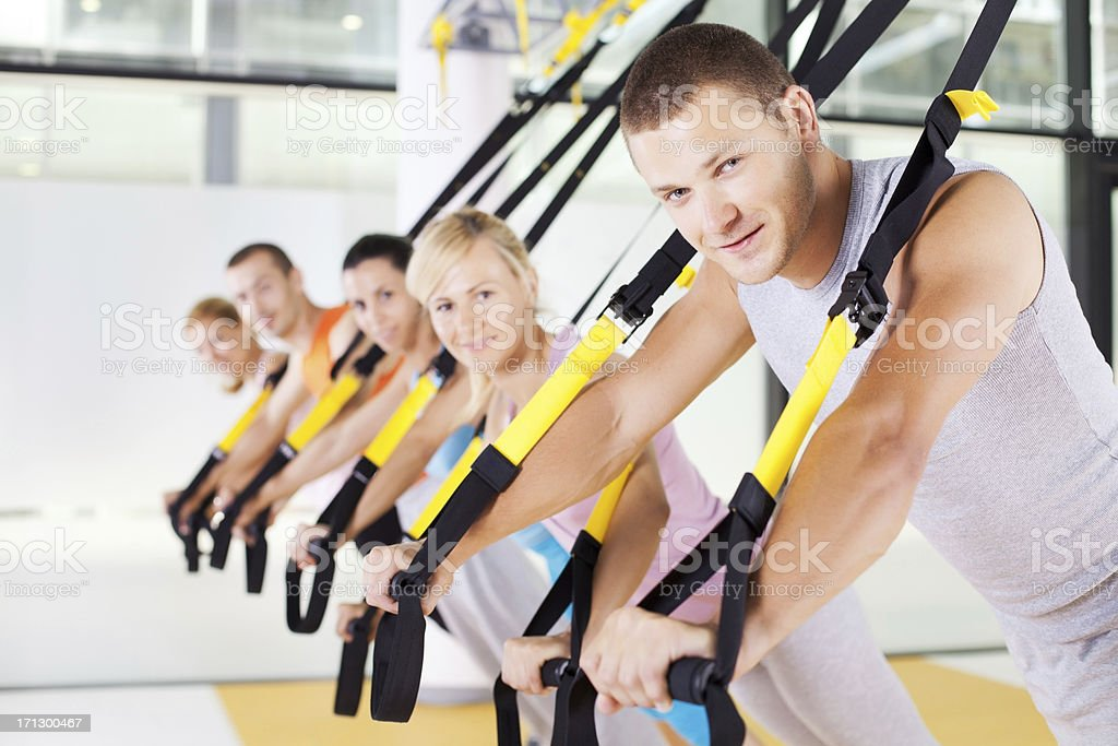 Suspension training royalty-free stock photo