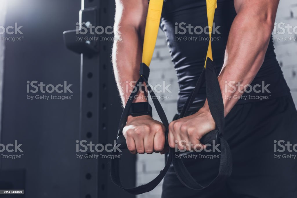TRX Suspension Training royalty-free stock photo