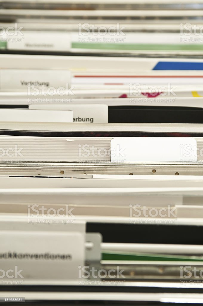 suspensions files in filing cabinet royalty-free stock photo