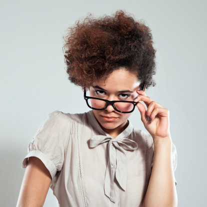 Suspicious Girl Stock Photo - Download Image Now