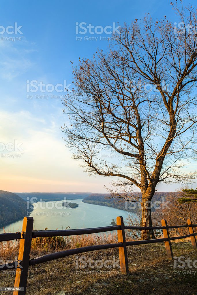 Susquehanna River at Dusk stock photo