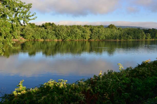 Susquehanna River durch Harrisburg, Pennsylvania. – Foto