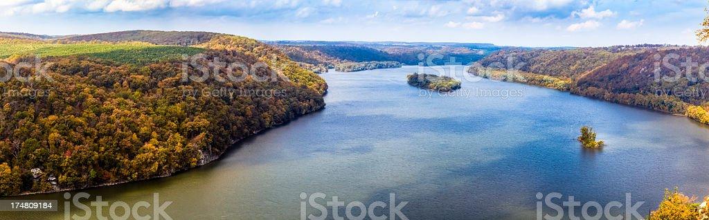 Susquehanna River in the Autumn stock photo