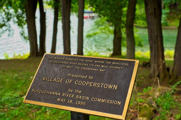 Susquehanna River marker stock photo