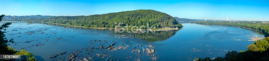 Panoramic view of the Susquehanna River in Pennsylvania.