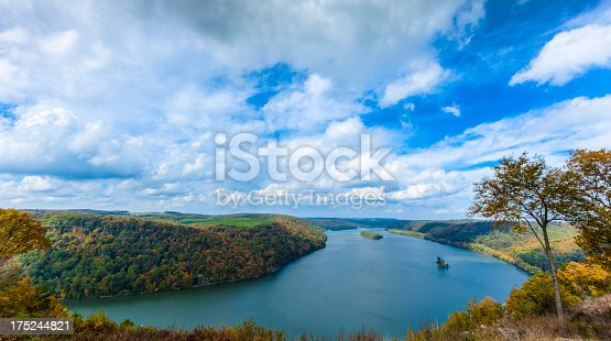 Looking north along the Susquehanna River from Pinnacle Overlook in Lancaster County, Pennsylvania.
