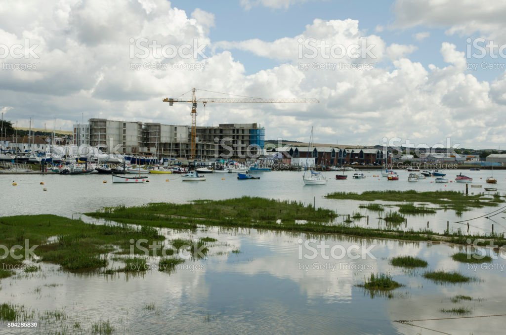 Sussex Yacht Club on the River Adur, Shoreham-by-Sea royalty-free stock photo
