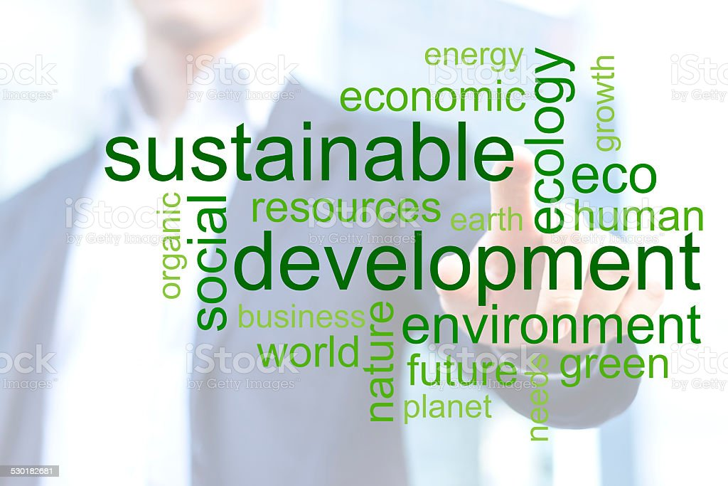 sustainability concept stock photo