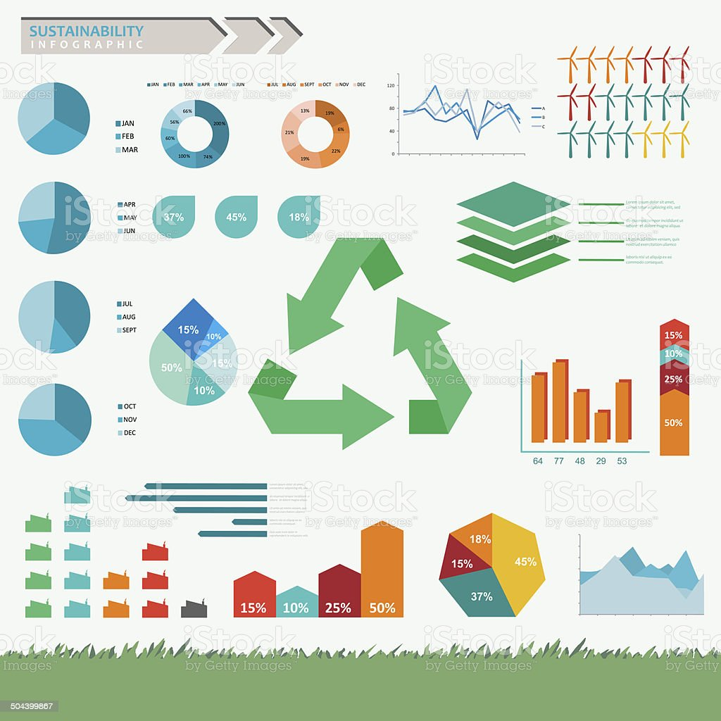 Sustainability Infographic Vector stock photo
