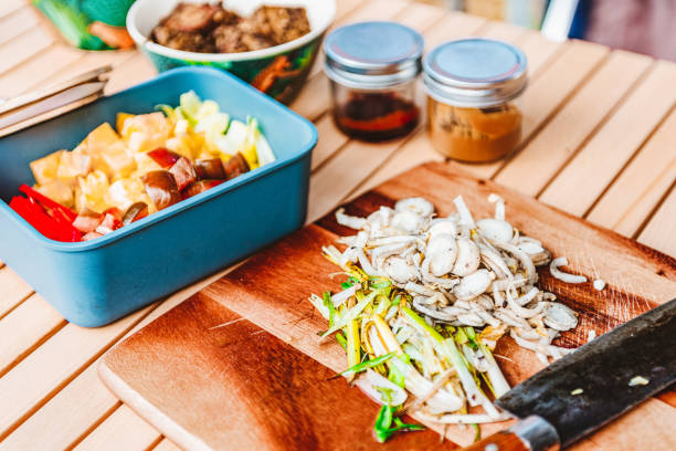 Sustainable and Zero Waste Cooking – Vanlife stock photo