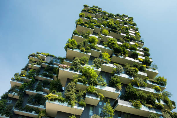 sustainable green building stock photo