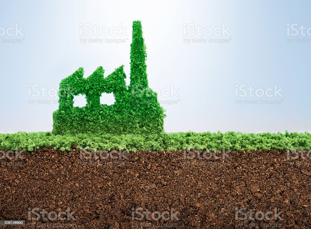 Sustainable industrial development stock photo