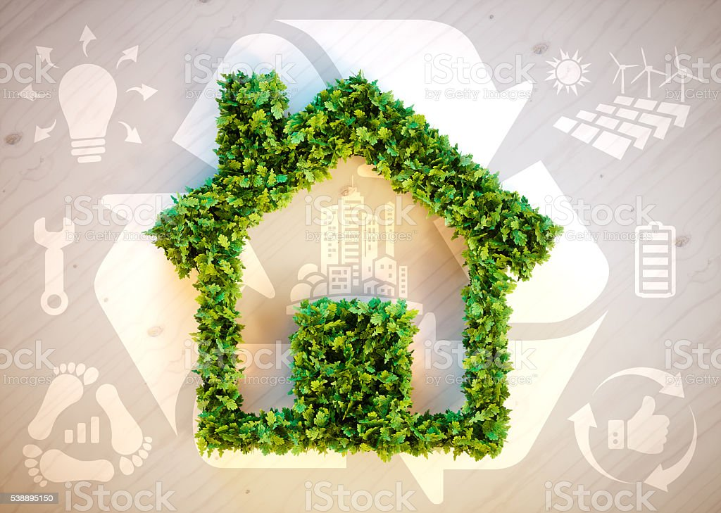 Sustainable living stock photo