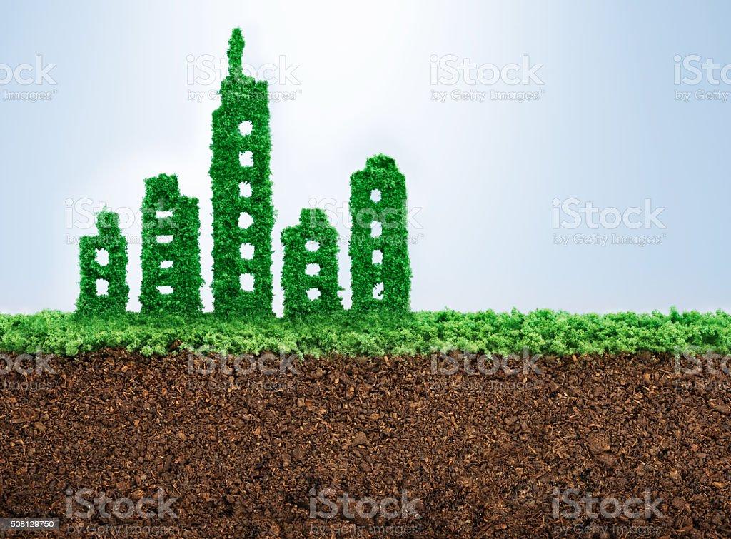 Desarrollo urbano sostenible - foto de stock