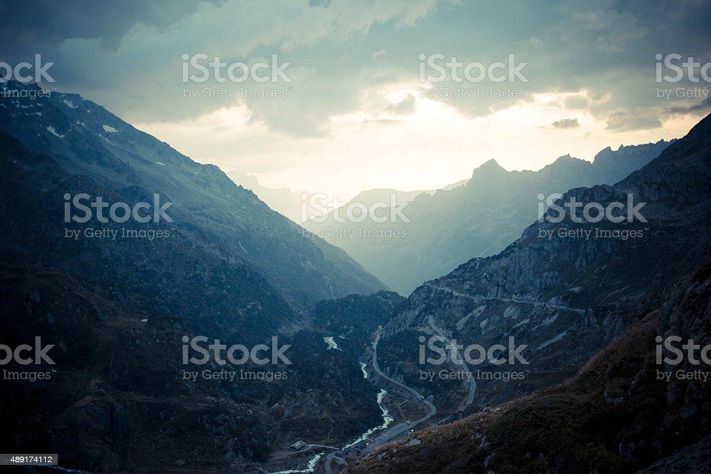 Susten Pass Switzerland Alpes 2 stock photo