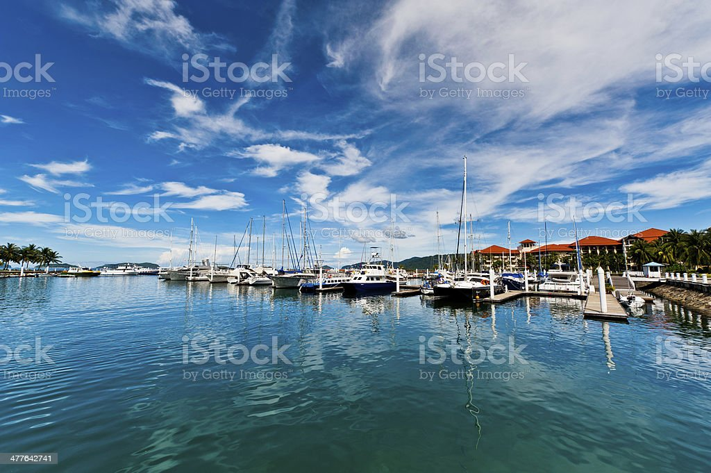 Sutera Harbour of Sabah stock photo