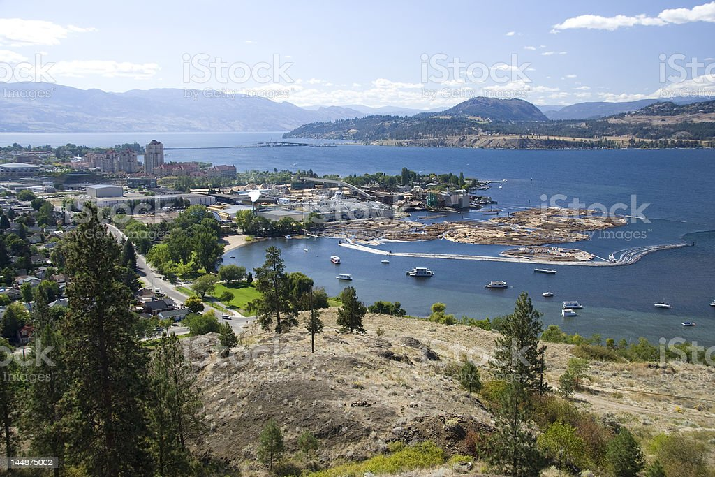 Sutherland Bay, Kelowna, BC stock photo
