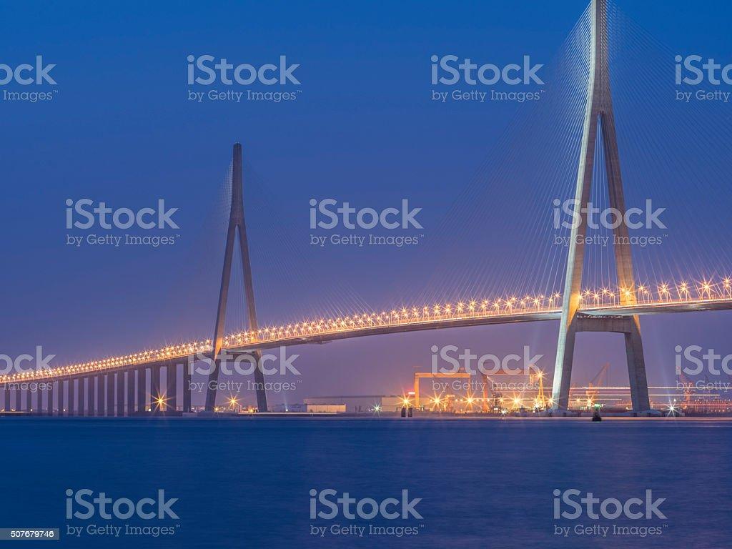 Sutong Yangtze River Bridge stock photo