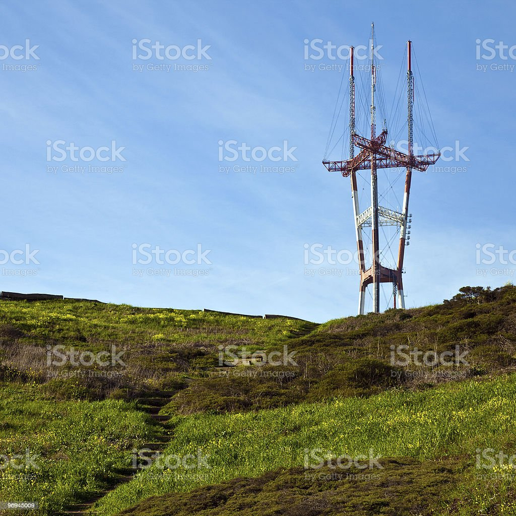 Sutro Tower royalty-free stock photo