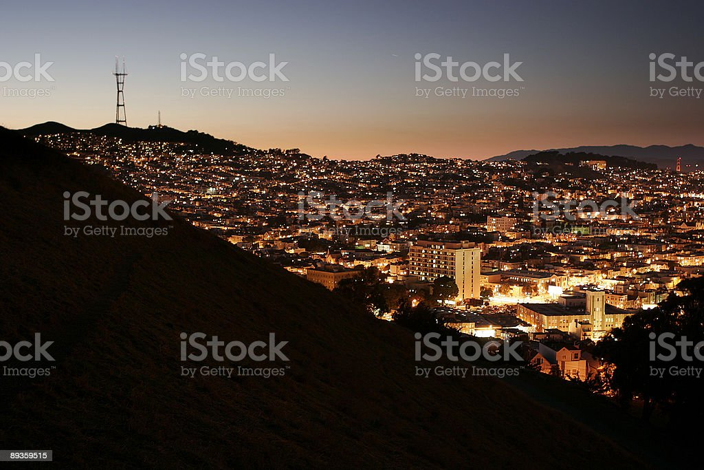 Sutro Tower Sunset royalty free stockfoto