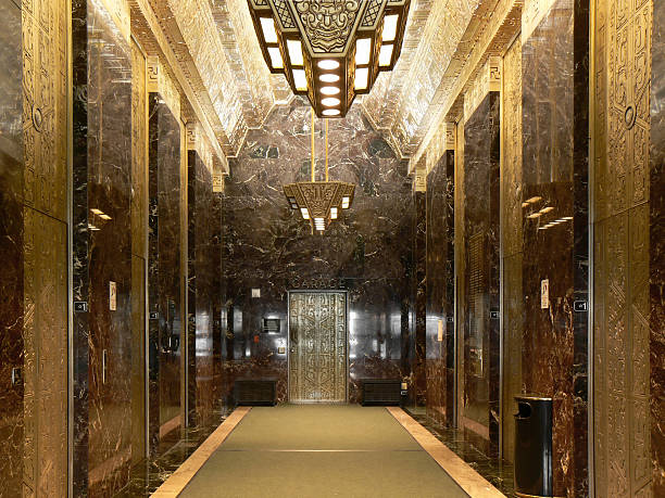 sutter street art deco lobby, san francisco, california - art deco stock photos and pictures