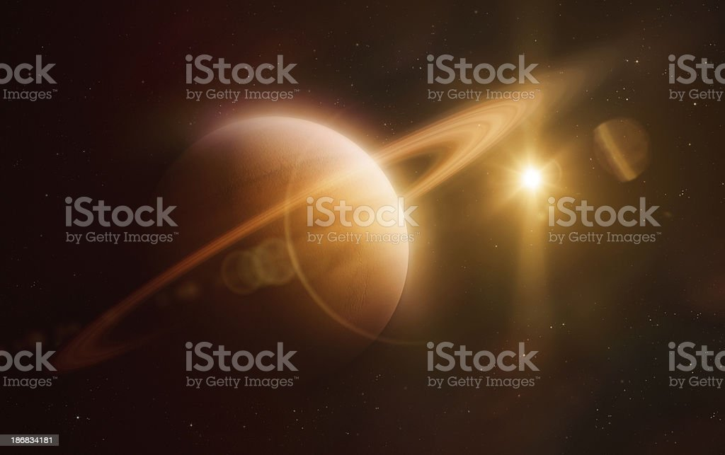 Suturn stock photo