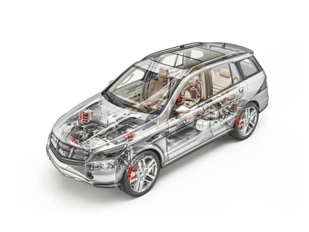 Suv car cutaway stock photo