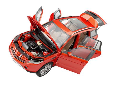 2 Door Suv >> 上から扉を開くと赤い Suv 車 - SUVのストックフォトや画像を多数ご用意 - iStock
