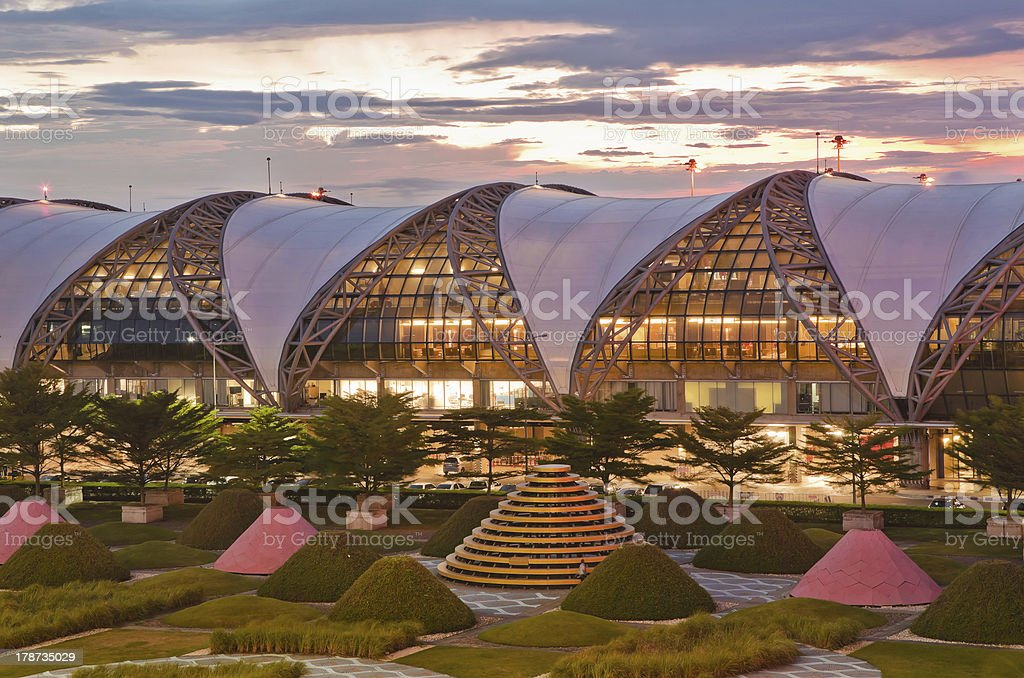 Aeropuerto Suvarnabhumi de bangkok, Tailandia - foto de stock
