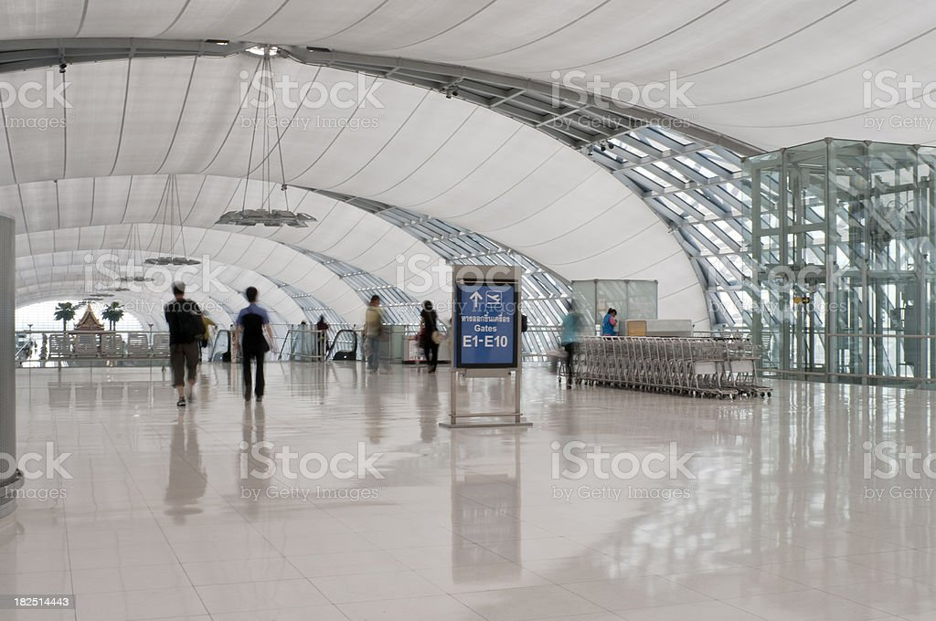 Suvarnabhumi Airport In Bangkok, Thailand royalty-free stock photo