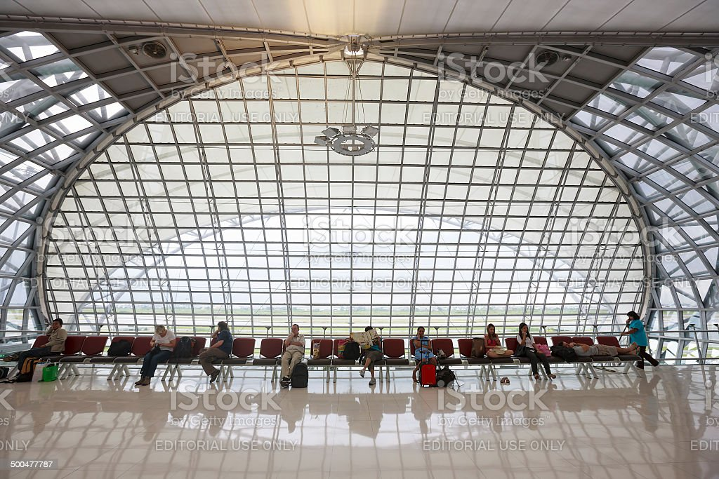 Aeropuerto Suvarnabhumi. - foto de stock