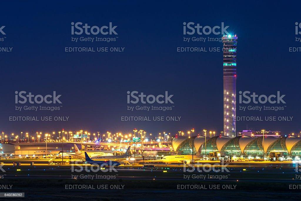 Aeropuerto Suvarnabhumi - foto de stock