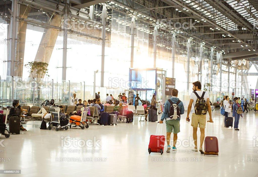 Aeropuerto Internacional Suvarnabhumi - foto de stock