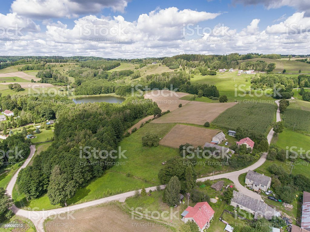 Suwalki Landscape Park, Poland. Summer time. View from above. Lizenzfreies stock-foto
