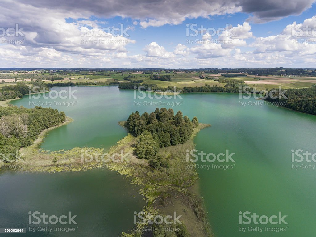 Suwalki Landscape Park, Poland. Summer time. View from above. Lizenzfreies stock-foto