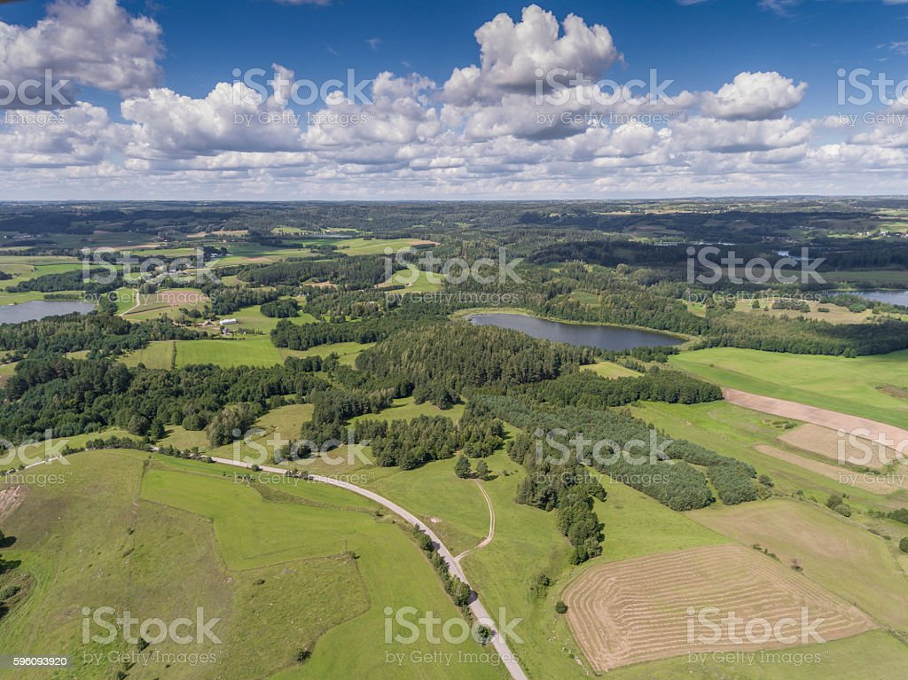 Suwalki Landscape Park, Poland. Summer time. View from above. royalty-free stock photo