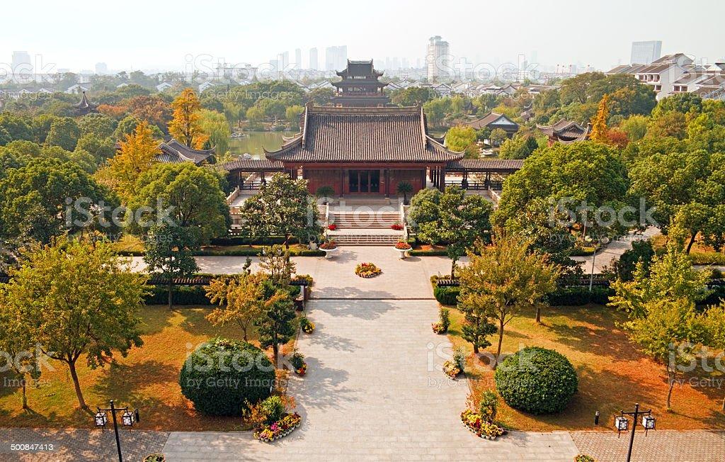 Suzhou at autumn stock photo