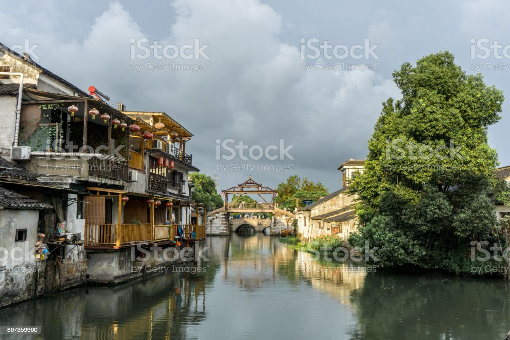 Suzhou city charm stock photo