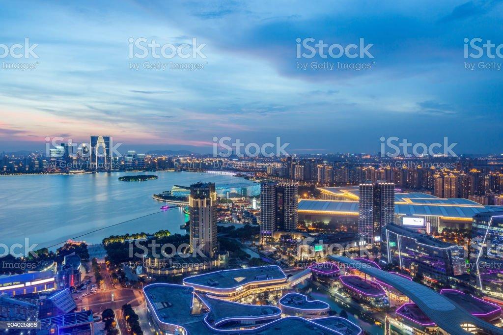 Beautiful night in Suzhou Industrial Park